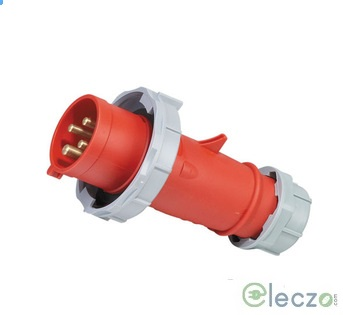 9 Electric Industrial Standard Plug 16-20 A, 2 Pole+E, IP 67, 230 V, 6H