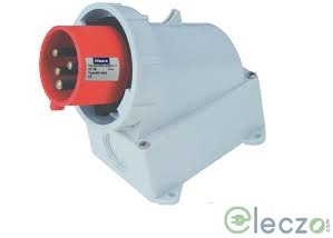 9 Electric Industrial Plug 16-20 A, 2 Pole+E, Surface-Wall Mounted, IP 67, 230 V, 6H