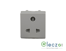 Schneider Electric Opale Universal Socket Outlet With Shutter 6 A, 2 Module, Coke Grey