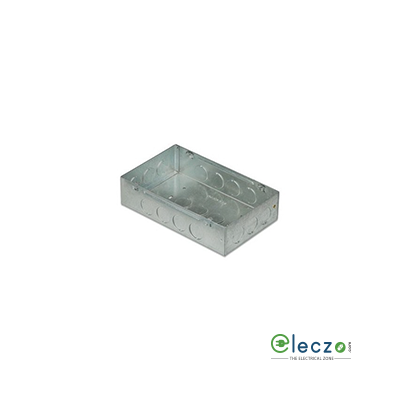 Anchor Concealed Galvanized (GI) Sheet Metal Box 8 Module Rectangular, Suitable For Woods, Roma Plus And Rider