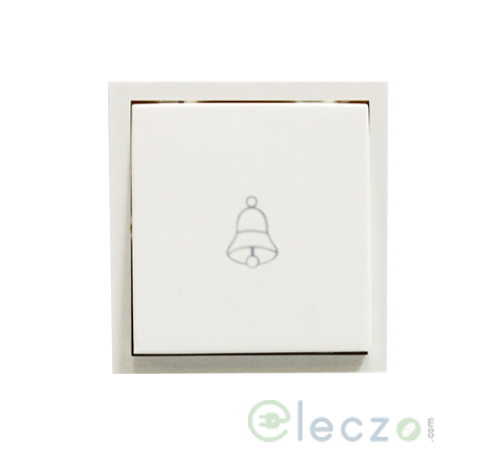 Anchor Roma Dura Switch 10 A, White, 2 Module, Bell Push