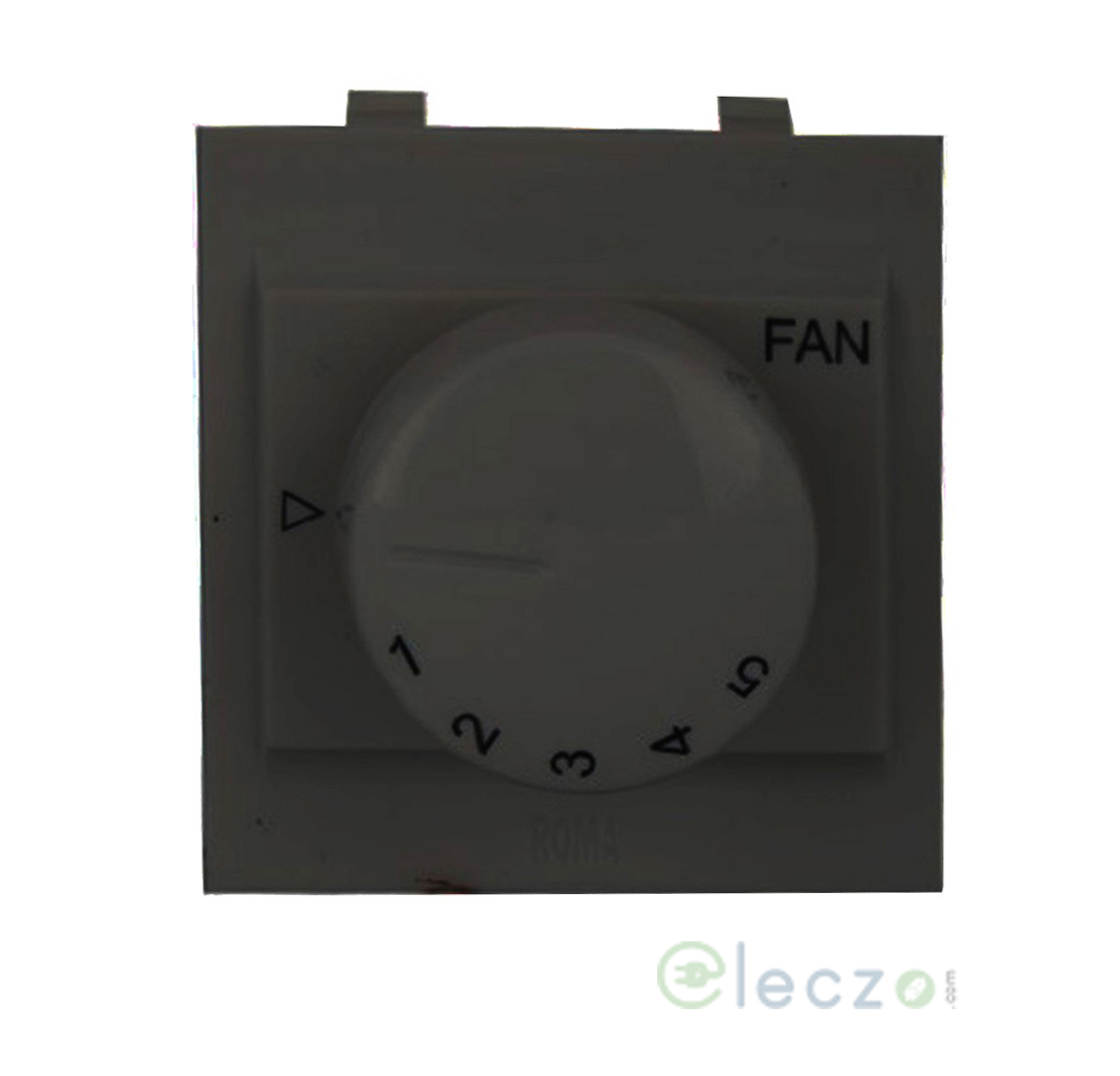 Anchor Roma Classic Fan Regulator 100 W, 2 Module, Black, 5 Step