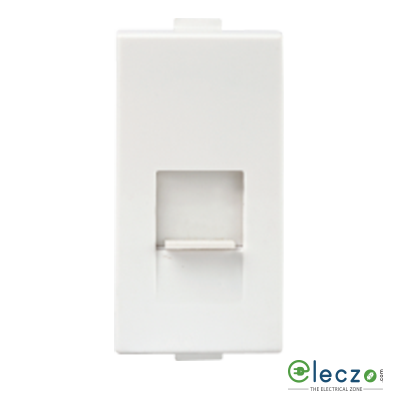 Anchor Roma Plus Telephone Socket With Shutter 1 Module, White, RJ 11