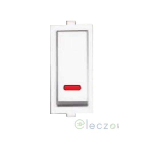 Anchor Roma Switch 10 A, White, 1 Module, 1 Way, With Indicator