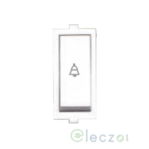Anchor Roma Switch 10 A, White, 1 Module, Bell Push