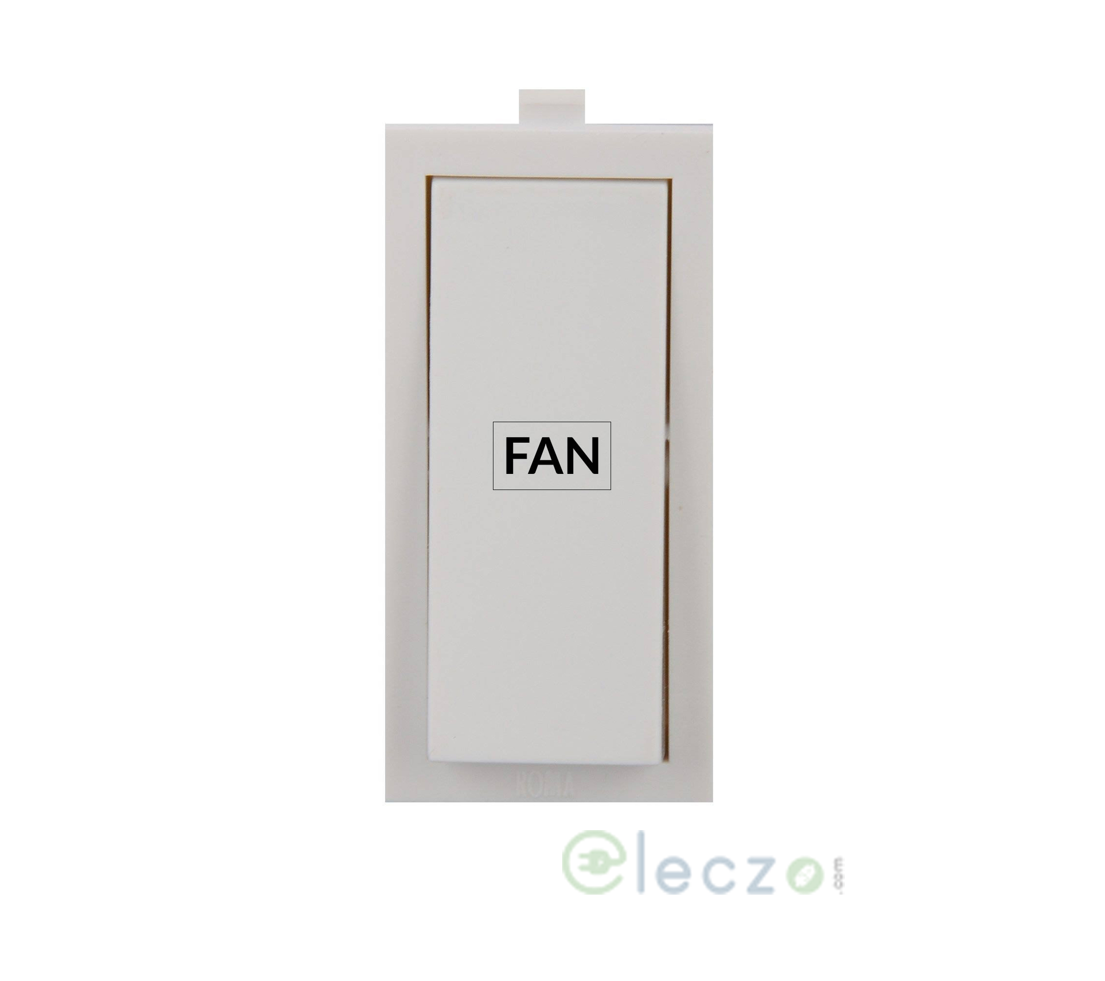 Anchor Roma Switch With Fan Mark 10 A, White, 1 Module, 1 Way