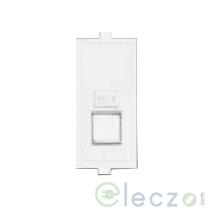 Anchor Roma Classic Telephone Jack Single With Shutter 1 Module, White, RJ 11