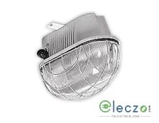 Crompton IP-54 Bulk Head Light 70 W, White, Pat Terned Glass Cover