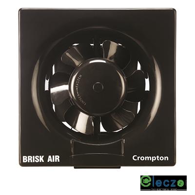 Crompton Brisk Air Domestic Exhaust Plastic Ventillation Fan 150 mm (6''), Black