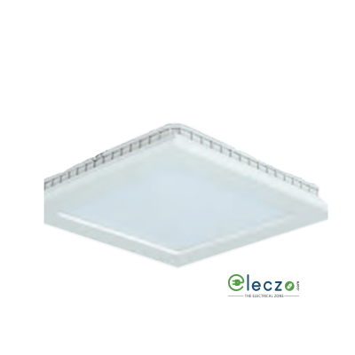 Crompton LED Surface Panel Ring Light 2 W, White, Ceiling Mounted, Square