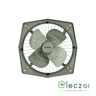 Crompton Trans Air Domestic Exhaust Metal Ventillation Fan 225 mm (9''), Grey