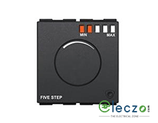 GM Modular FourFive Electronic Type Fan Regulator 2 Module, Glossy White, 5 Step