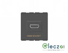 GM Modular FourFive HDMI Socket Glossy White, 2 Module