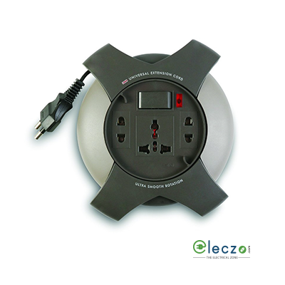 GM Modular G Magic (G Star) Flex Box 3 Internationals Sockets With 1 Master Switch, Indicator (Wire Length - 5 Mtr)
