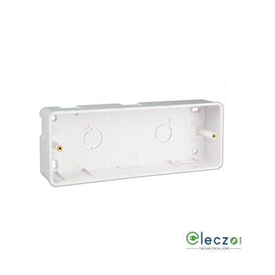 Great White PVC Surface Junction Box 2 x 4 Module Vertical, Suitable For Myrah Or Fiana