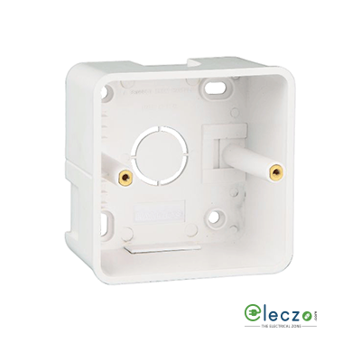 Great White PVC Surface Junction Box 1 & 2 Module, Suitable For Myrah Or Fiana