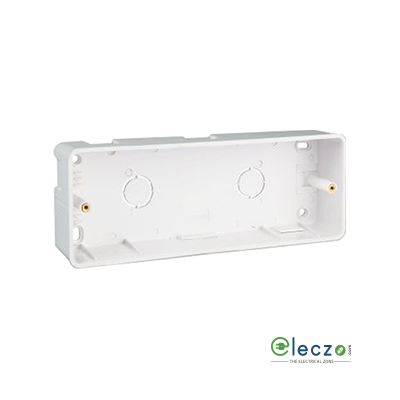 Great White PVC Surface Junction Box 2 x 9 Module Vertical, Suitable For Myrah Or Fiana