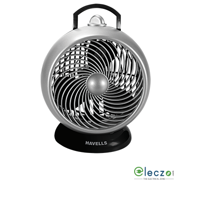 """Havells I Cool High Speed Personal Fan 175 mm (7""""), Black Grey"""