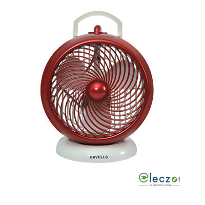 """Havells I Cool High Speed Personal Fan 175 mm (7""""), White Maroon"""