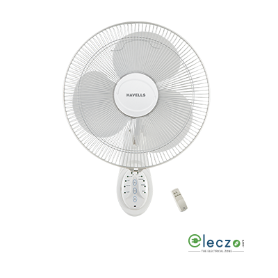 Havells Platina With Remote Wall Fan 400 mm (16''), White