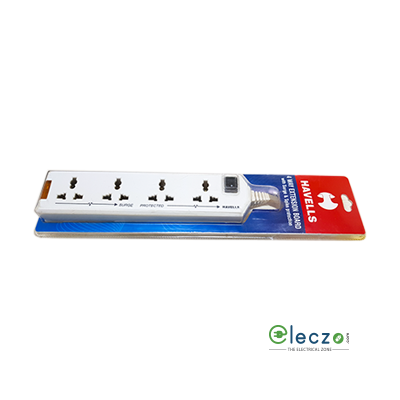 Havells Spike Guard (Spike Buster) 4 way Extension Board, With Master Switch, Surge Protector