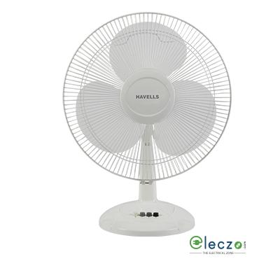 Havells Swing LX Table Fan 400 mm (16''), White