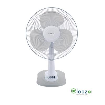 Havells Swing ZX Table Fan 400 mm (16''), Light Grey