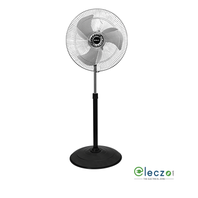 """Havells V3 Speed Pedestal Fan 450 mm (18""""), Black"""