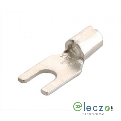 HEX Copper Fork Type Terminal End Lugs, 1.5 sq.mm, Stud Hole 3.5 mm, Crimping Type