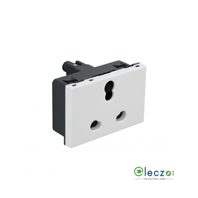 Legrand Arteor 3 Pin Shuttered Socket (Square) 6/16 A, 3 Module, White