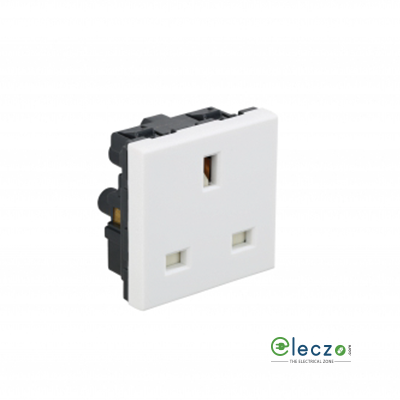 Legrand Arteor 3 Pin 2P + E BS Socket With Shutter (Square) 13 A, 2 Module, White