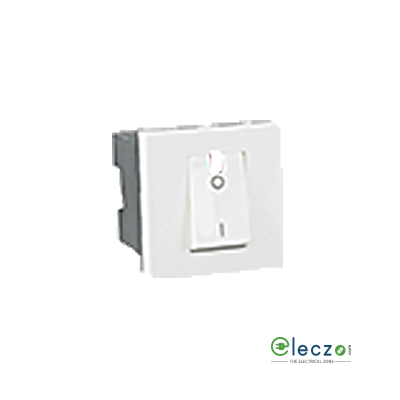 Legrand Arteor DP Switch (Square) 32 A, White, 2 Module, 1 Way, With Indicator