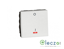 Legrand Arteor DP Switch (Square) 20 A, White, 2 Module, 1 Way, With Indicator