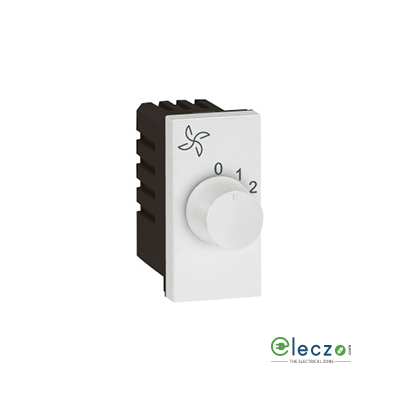 Legrand Arteor Fan Regulator (Square) 100 W, 1 Module, White, 4 Step