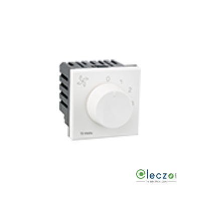 Legrand Arteor Fan Regulator (Square) 2 Module, White, 5 Step