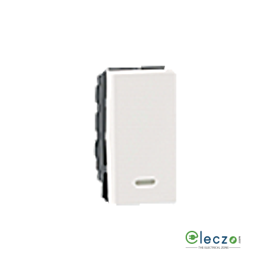 Legrand Arteor SP Switch (Square) 20 A, White, 1 Module, 1 Way, With Indicator