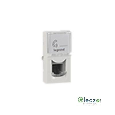 Legrand Arteor Telephone Socket With Shutter 1 Module, White, RJ 11