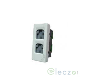 Legrand Arteor Telephone Socket Double 1 Module, White, RJ 11