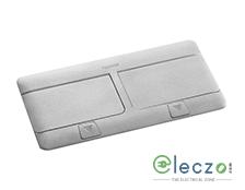Legrand Pop Up Box 8 Module, Matt Aluminium, Flush Mounting