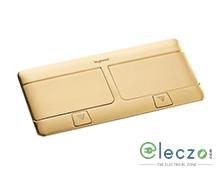 Legrand Pop Up Box 8 Module, Brushed Brass, Flush Mounting