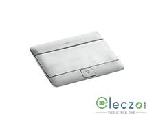 Legrand Pop Up Box 4 Module, Brushed Stainless Steel, Flush Mounting