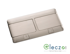 Legrand Pop Up Box 8 Module, Brushed Stainless Steel, Flush Mounting