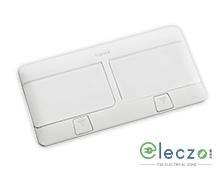 Legrand Pop Up Box 8 Module, Glossy White, Flush Mounting