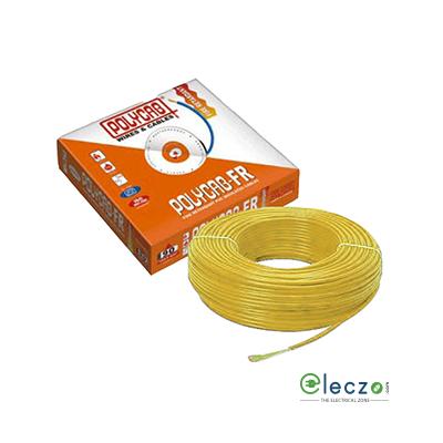 Polycab 1 Sq.mm, Single Core Copper Flexible Cable, Yellow, PVC FR (Flame Retardant)