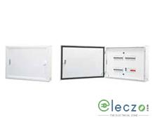 Schneider Electric Acti 9 Distribution Board 4 Way, 8 IC + 12 OG Module, TPN, Double Door - Metal, IP 43