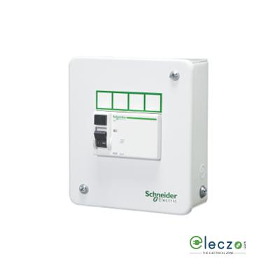 Schneider Electric Acti 9 Distribution Board 4 Way, 3/4 Module, Single Door - Metal Enclosure, IP 30