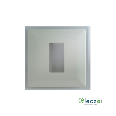 Schneider Electric Livia Cover Plate 1 Module, Pebble Grey, With Support Frame