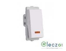 Schneider Electric Livia Switch 10 A, White, 1 Module, 1 Way, With Indicator
