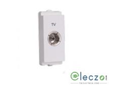 Schneider Electric Livia TV Socket 1 Module, White