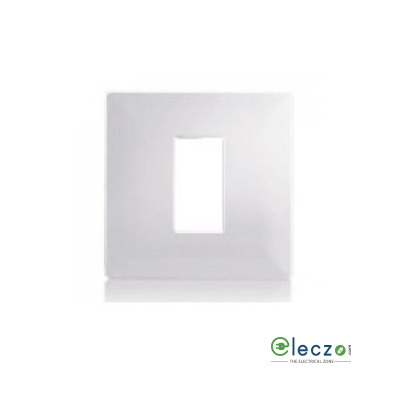 Schneider Electric Opale Cover Plate 1 Module, White, With Support Frame